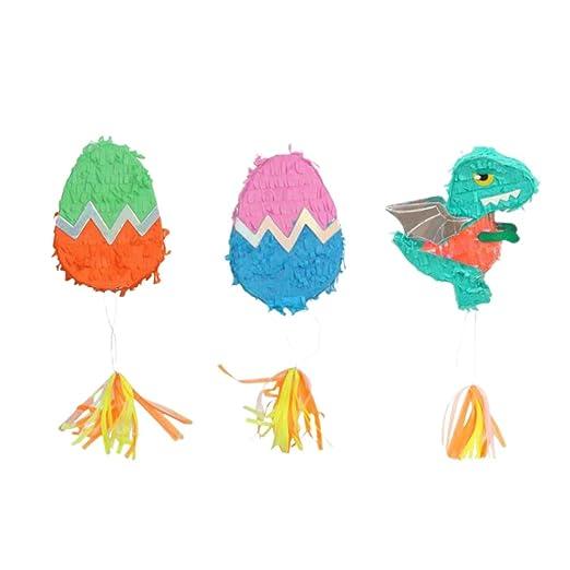 Amosfun - Huevos de Dinosaurios Pinata Pull Sting Pinata ...