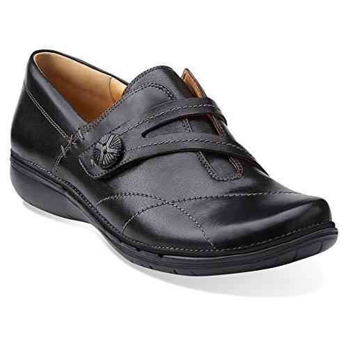 Clarks Womens Un Esma Slip-On Loafer Black