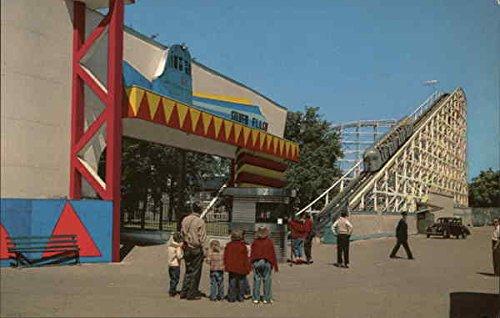 RIverview Amusement Park - Silver Flash Chicago, Illinois Original Vintage Postcard from CardCow Vintage Postcards