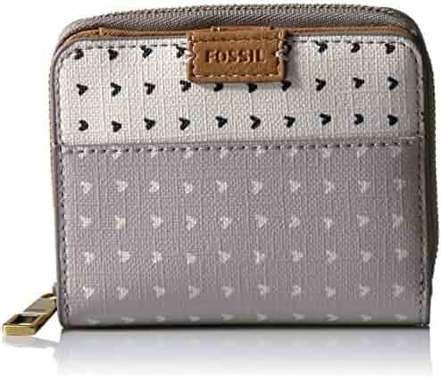 Fossil Emma Rfid Mini Multifunction-grey/white Wallet