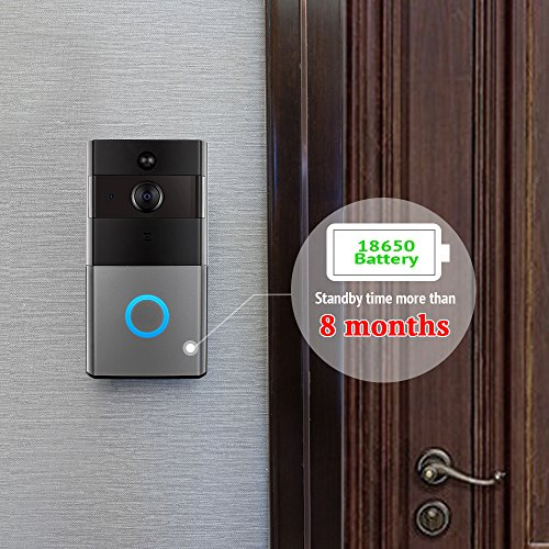 Mbangde Wireless Video Doorbell, Smart Wi-Fi Video Door bell with Motion Detection, Night Vision Infrared LEDs, Two-way Audio for IOS and Android App, with 32G Strorage by Mbangde (Image #1)