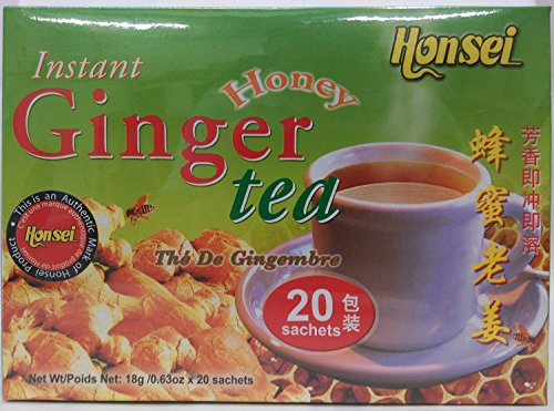 Honsei Instant Ginger Honey Tea, 40 Count ()