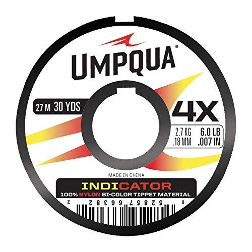(Umpqua Indicator Tippet, Red/Yellow,)