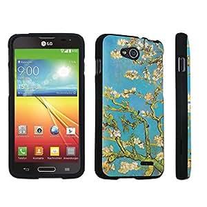 DuroCase ? LG Optimus L90 Hard Case Black - (Blossoming Almond Tree)