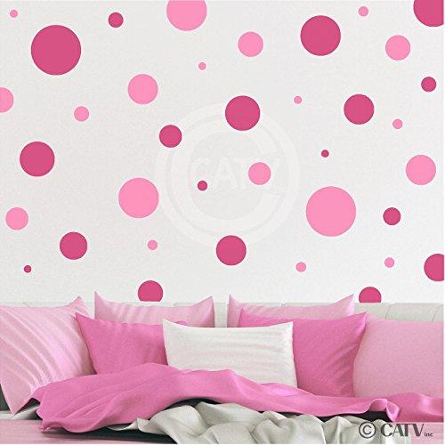assorted polka dots circle decals