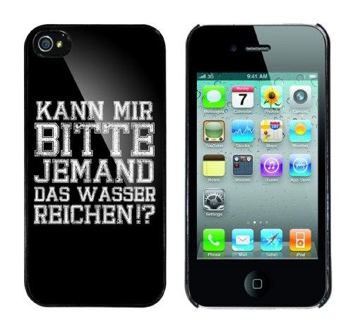 Iphone 4 Case Kann mir bitte jemand das Wasser reichen Rahmen schwarz