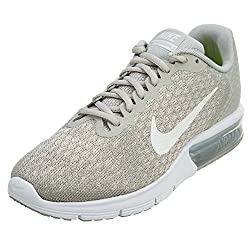 Nike Women's Air Max Sequent Running Shoes Pale Greysail-light Bone Size 10