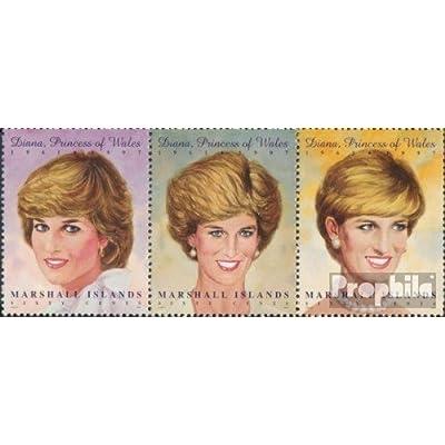 marshall-îles 873-875 bande de trois (complète.Edition.) 1997 princesse diana (Timbres pour les collectionneurs)