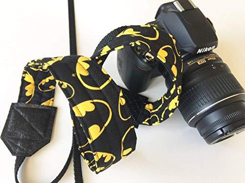 Batman Superhero Camera Strap - for men - works with dslr digital cameras - handmade camera strap - fun gift for photographers