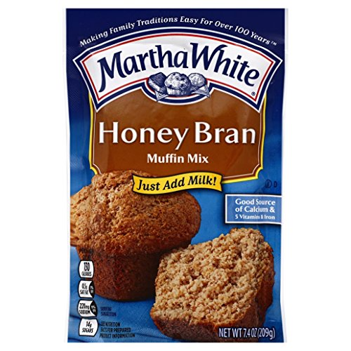 Oat Bran Pancake Mix - Martha White Honey Bran Muffin Mix, 7.4 oz