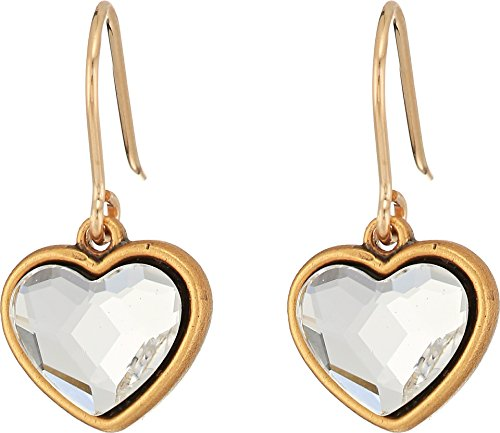 Price comparison product image Alex and Ani Women's Crystal Heart Hook Earrings Rafaelian Gold One Size