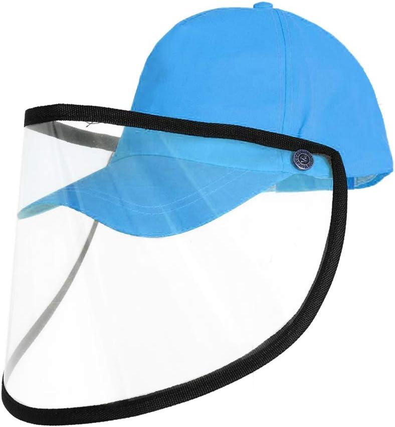 Lasperal Gorra de Beisbol para Hombres y Mujeres,Gorra Protectora con Visera Transparente Extra/íble,Sombrero Protector Anti-Spray Sombrero para el Sol