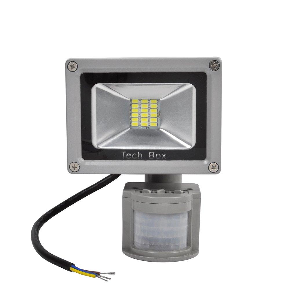 Detector de Movimiento Techo Foco LED Exterior SMD LED Foco Proyector Luz Blanco 20 Watts: Amazon.es: Iluminación