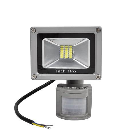 Detector de Movimiento Techo Foco LED Exterior SMD LED Foco Proyector Luz Blanco 20 Watts