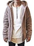 LAICIGO Men's Lapel Long Sleeve Faux Shearling Coat Winter Boyfriend Winter Faux Coat