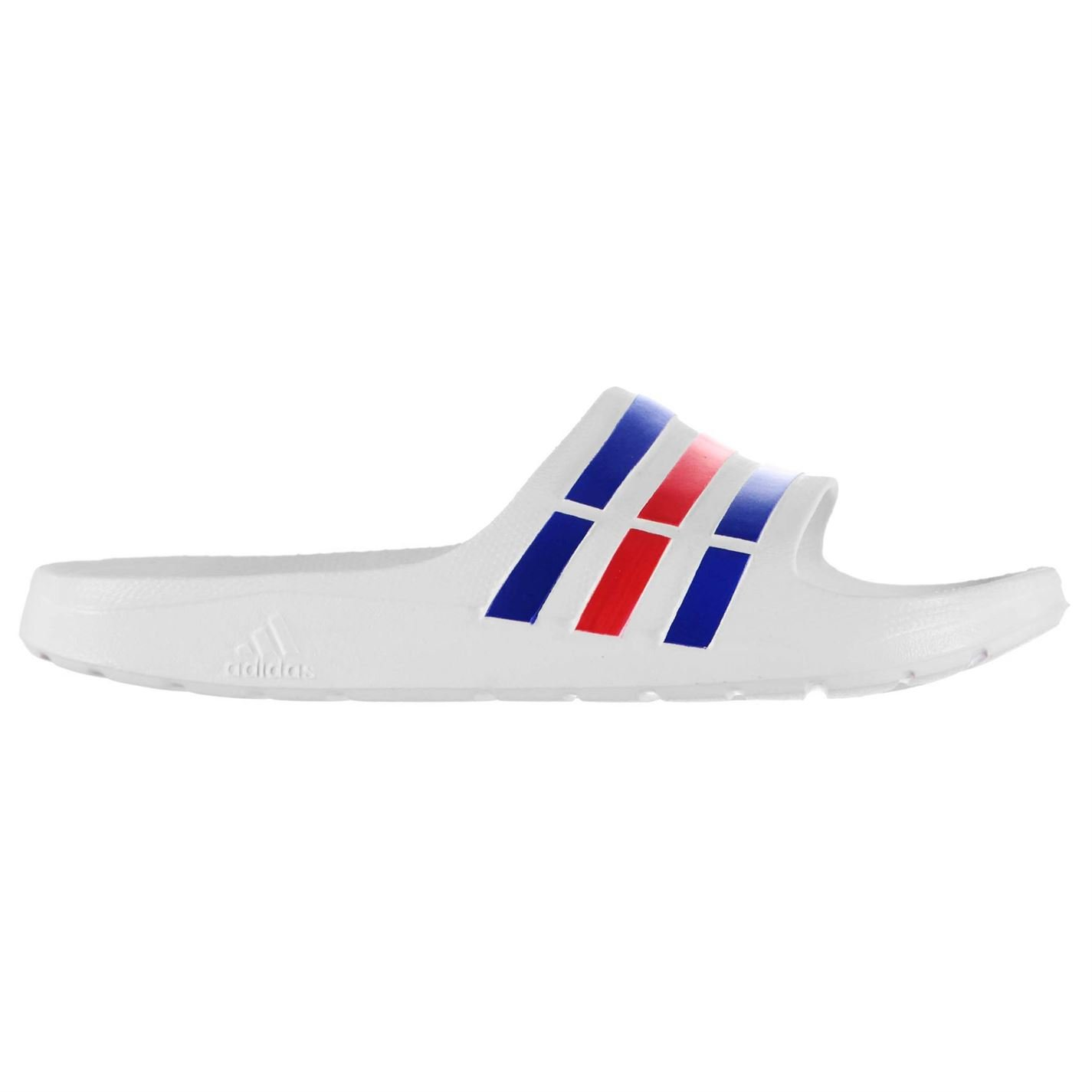 e44dfe613b3f3 Adidas Mens Duramo Slide On Pool Shoes   White