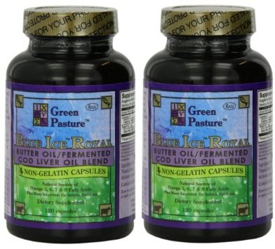 Blue Blend (Blue Ice Royal Butter Oil / Fermented Cod Liver Oil Blend (240 Capsules)