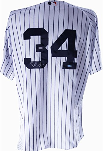 Phil Hughes 2008 Authentic Yankees Home Jersey #34 with All Star and Final Season Patches - Signed On Back Number (MLB Auth)