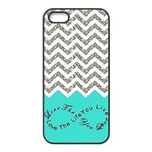 Colorful Chevron Pattern Live the Life You Love, Love the Life You Live Case - iPhone 5 Case - iPhone 5S Case - Hard Plastic Case