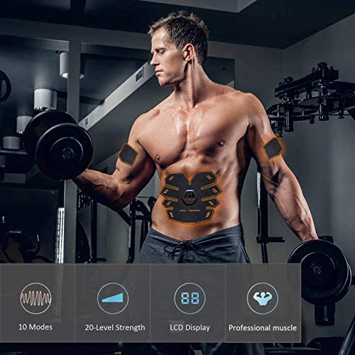 UMATE Abs Stimulator Muscle Toner, Portable Muscle Trainer,Abdominal Trainer,Abdominal Muscle Toner Fitness Training Gear with LCD Display for Men/Women 4