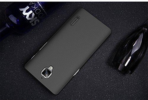 SMTR OnePlus 3 /3T Funda, Calidad Premium Cubierta Delgado Caso de PC Hard Gel Funda Protective Case Cover para OnePlus 3 /3T -rojo case + film- negro