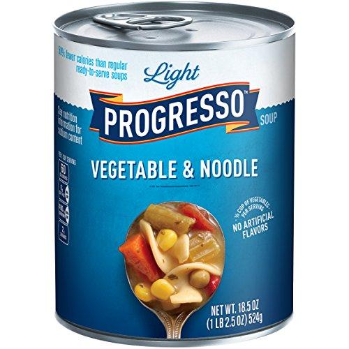 Progresso Light Vegetable & Noodle Soup 18.5 oz Can