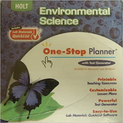 Amazon.com: Holt Environmental Science: One-Stop Planner CD-ROM ...