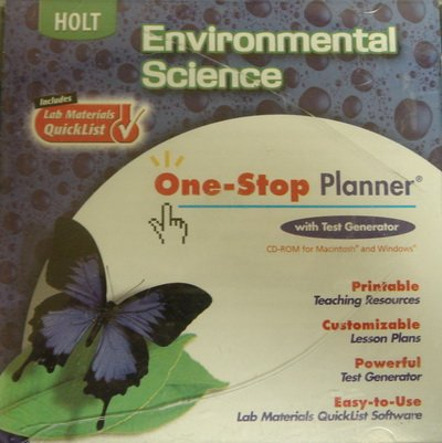 Holt Environmental Science: One-Stop Planner CD-ROM with Test Generator (One Stop Planner Cd Rom With Test Generator)
