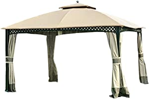Garden Winds Replacement Canopy Top Cover for The Windsor Dome Gazebo - RipLock 500
