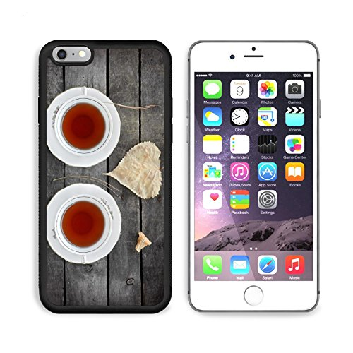 MSD Premium Apple iPhone 6 Plus iPhone 6S Plus Aluminum Backplate Bumper Snap Case IMAGE 22606218 autumn tea for two in vintage white cups on a grey rustic wooden table with (I Pine 6 Plus)