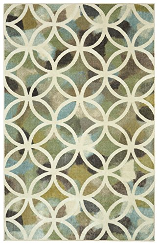 Mohawk Home Aurora Random Symmetry Light Green Rug, 8'x10'- Family Room Ideas - Make quick & easy changes to any room in your home in minutes by changing the rug - add color & patterns