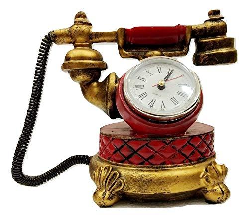 Catchin24 Vintage Retro Phone Telephone Table Clock Model Decoration Antique Crafts Shop Window Personalization Ornaments Photography Props Polycarbonate Coin Bank Buy Online In Aruba At Aruba Desertcart Com Productid 110981869
