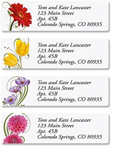 fl1r 30 Personalized Beautiful Flowers Return Address Labels Buy 3 get 1 free