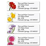 Floral Whispers Personalized Return Address Labels – Set of 240, Small Self-Adhesive, Flat-Sheet Labels (4 Designs), By Colorful Images