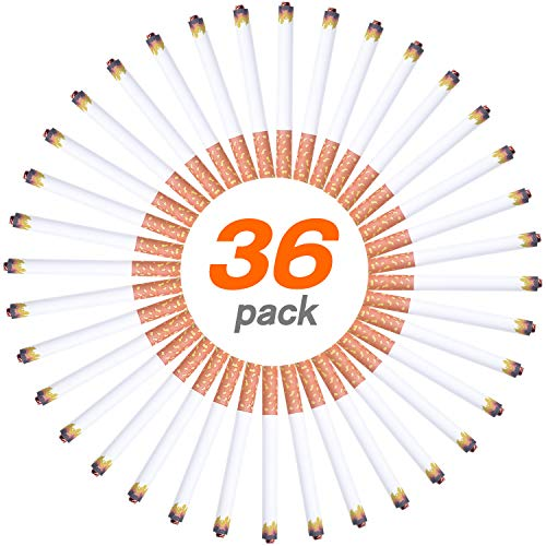 36 Pcs Fake Puff Cigarettes Novelty Toy for Prank, Joke,Gag or Smokers Gift (36 Cigarettes) ()