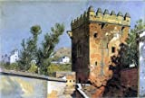 William Stanley Haseltine A View from the Alhambra- Spain - 24'' x 36'' 100% Hand Painted Oil Painting Reproduction