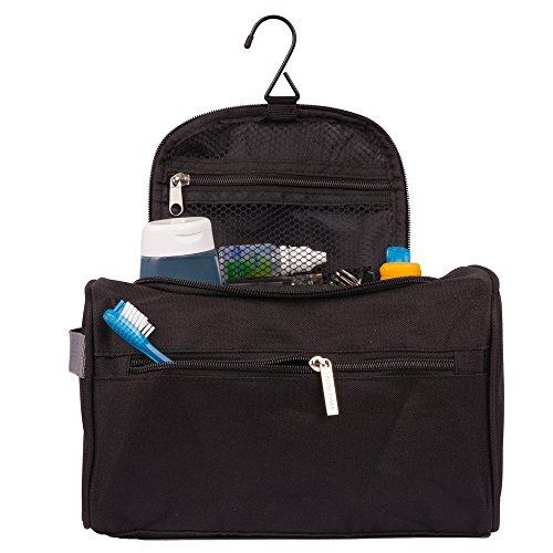 Travelmore Hanging Travel Toiletry Bag Organizer Bathroom Hygiene Dopp Kit With Hook For