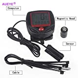 Aueye Digital Bicycle Computer Leisure Multi-Functions Waterproof Cycling Odometer Speedometer With Lcd Display Portable Bike Computers Riding Trip Time Calorie Consumption Stopwatch Alert Feature For Sale