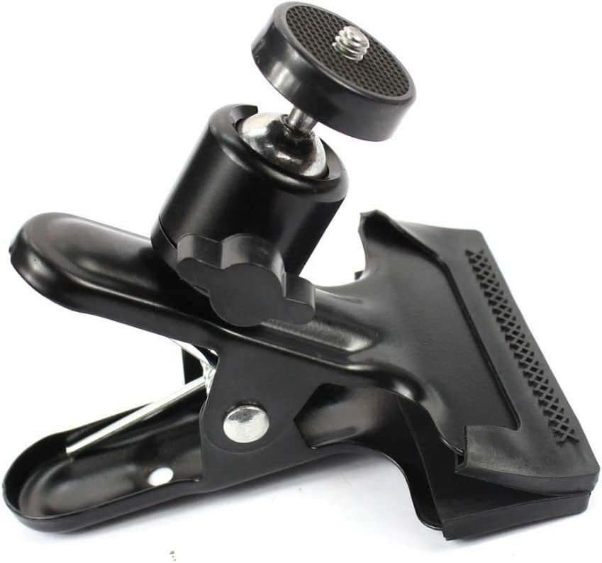 2 Flash Camcorder FS Camera Mounts Clamps XIANYUNDIAN 360 Degree Rotating Ball Head Clamp Clip Holder W// 1//4 Tripod Mount for Gopro Camera Hero 4 3 3