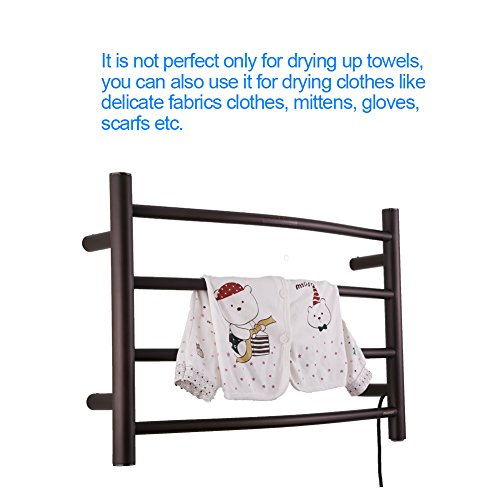Sharndy Electric Towel Rack Towel Warmer Orb Wall Mounted Oil Rubbed Bronze by SHARNDY (Image #4)