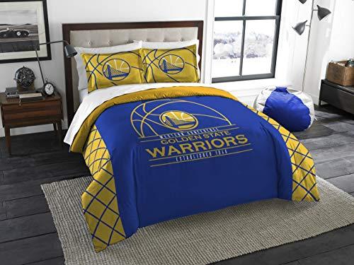 Northwest Golden State Warriors Nba King Comforter Set (reverse Slam Series) (102 X 86)