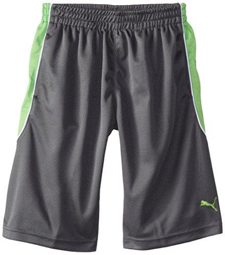 Puma Big Boys' Training Short, Grey/Green, Medium