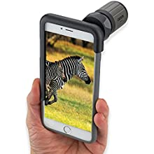 Carson HookUpz iPhone 6 Plus Digiscoping Adapter with 7x18mm Close Focus Monocular (IC-618P)