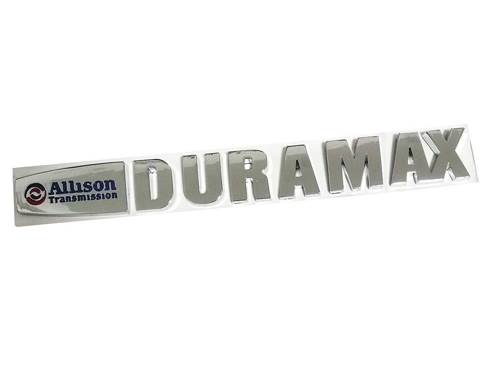 Chrome Yuauto 2pcs Allison Duramax Badges Emblems Replacement for Gm 2015 Silverado 2500hd 3500hd Hood