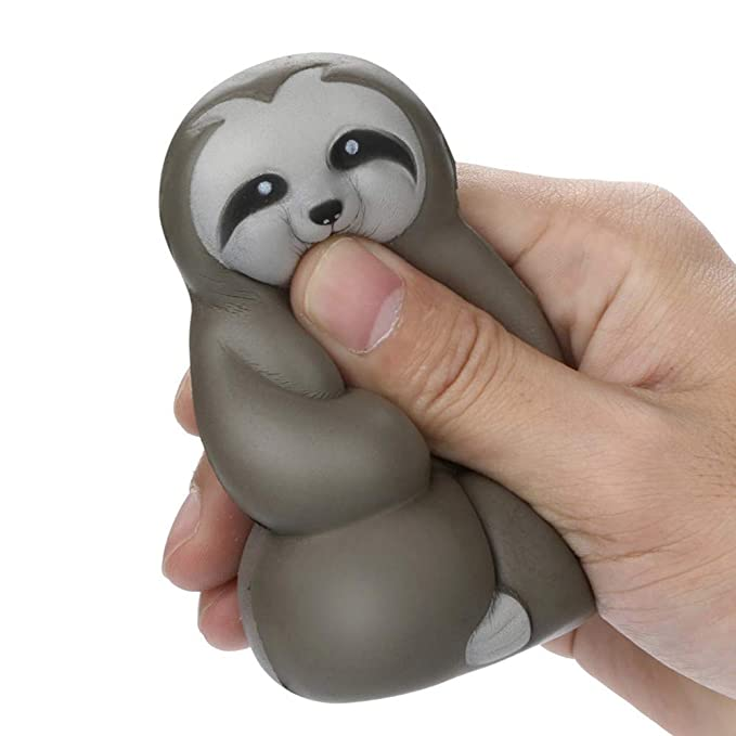 Amazon.com: Exteren Adorable Squishies Soft Sloth Slow Rising Fruit Scented Stress Relief Toys Gifts (Brown): Sports & Outdoors