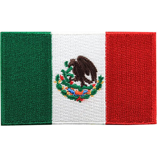 Mexico Mexican Embroidered Country National Flag Iron On Emblem Patch Team