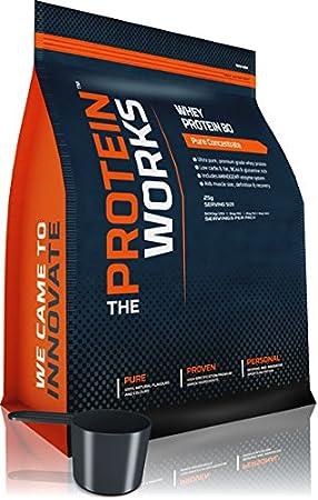 La proteínas Works Pure 80 Concentrado de proteína de suero ...