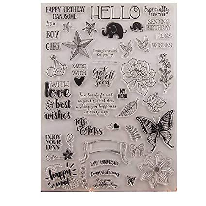 GIMISTUI Store Clear Stamps DIY Card Making Blessing