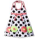 Blueberi Boulevard Baby Girls' Halter Sundress, Black/White, 12 Months