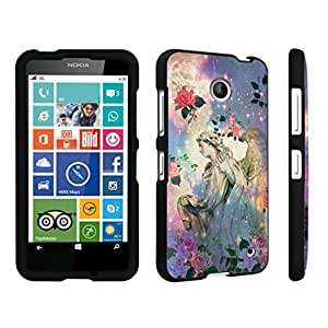 DuroCase ? Nokia Lumia 630 Hard Case Black - (Roses Angel)